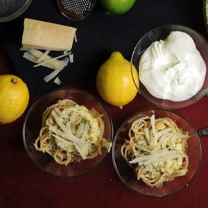 Spaghetti cytrynowe