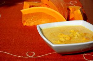 Mleczna zupa dyniowa