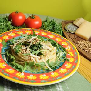 Spaghetti z rukolą